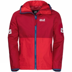 Jack Wolfskin Jack Wolfskin Boys Rainy Days Jacket 14+ Indian Red Xt