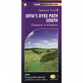 Harvey Maps Offa's Dyke Path South: Chepstow to Knighton