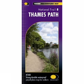 Harvey Maps Thames Path National Trail Map 1:60K