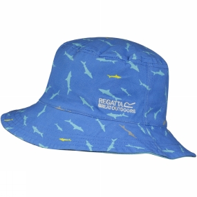 Regatta Kids Cruze Hat Atoll Blue/Pluto Shark Print