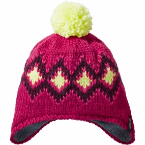 Jack Wolfskin Kids Diamond Knit Cap Azalea Red