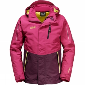 Jack Wolfskin Jack Wolfskin Youths Crosswind 3-in-1 Jacket Age 14+ Azalea Red