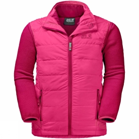 Jack Wolfskin Jack Wolfskin Kids Glen Dale 3-in-1 Jacket Ages 14+ Tropic Pink