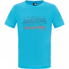 The North Face Boys Reaxion T-Shirt Meridian Blue