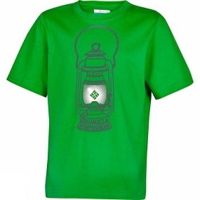 Columbia Boys Camp Light Graphic Tee Age 14+ Fuse Green
