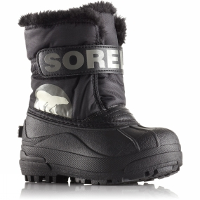 Sorel Sorel Kids Snow Commander Boot Black/Charcoal