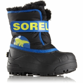 Sorel Sorel Kids Snow Commander Boot Black/Super Blue