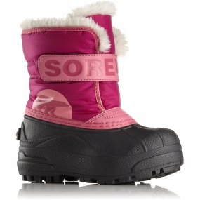 Sorel Sorel Kids Snow Commander Boot Tropic Pink/Deep Blush