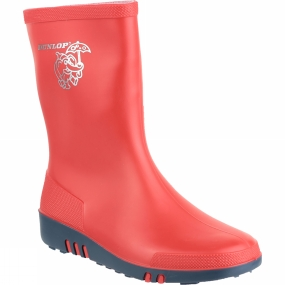 Dunlop Kids Mini Elephant Welly Red/Blue