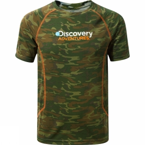 Craghoppers Craghoppers Mens Discovery Adventures Short Sleeve T-Shirt Dark Moss Combo