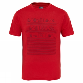 The North Face Boys Reaxion Short Sleeve Tee High Risk Red