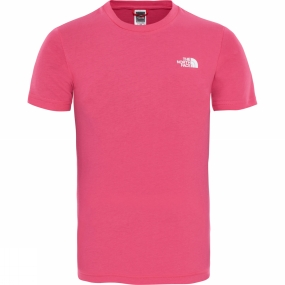 The North Face The North Face Youths Simple Dome T-Shirt Petticoat Pink