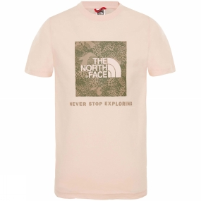 Image of The North Face Youth Box SS Tee Pink Salt