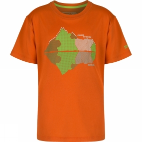 Regatta Kids Alvarado II T-Shirt Age 14+ Magma Orange