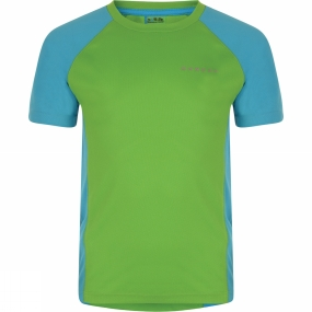 Dare 2 b Kids Luminary Tee Age 14+ Fairway Green / Fluro BLue