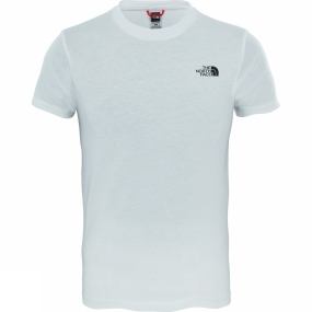 The North Face Youths Simple Dome T-Shirt Ages 14+ TNF White