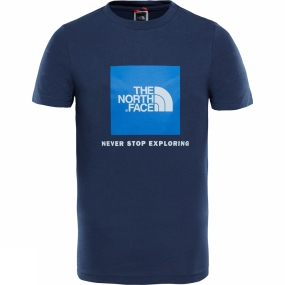 The North Face The North Face YOUTH BOX SS TEE Cosmic Blue/ Turkish Sea