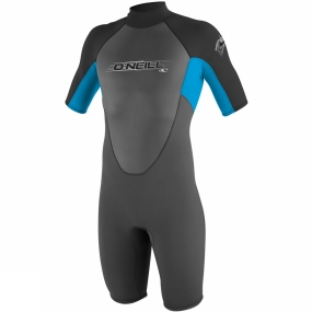 O'Neill Wetsuit Youth Reactor Spring Graphite/Blue/Black