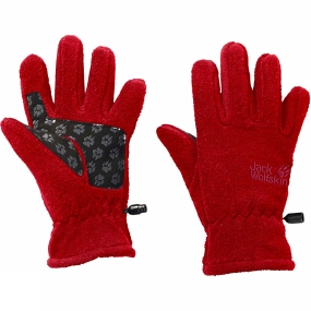 Jack Wolfskin Kids Fleece Gloves Ruby Red