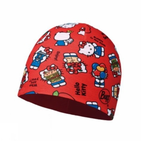 Buff Buff Childrens Microfiber and Polar Hat Hello Kitty Foodie Red / Samba