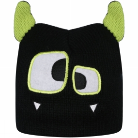 Regatta Kids Animally II Hat Black/Lime Zest