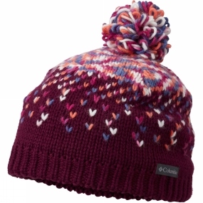 Columbia Childrens Siberian Sky Beanie Dark Raspberry
