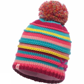 Buff Buff Childrens Knitted & Polar Hat Lasse Pink