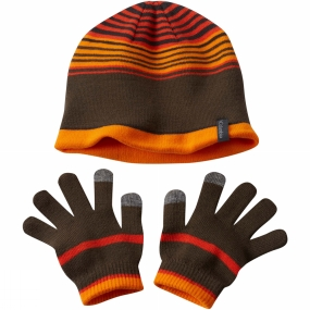 Columbia Youths Hat And Glove Set State Orange