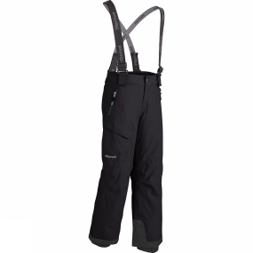 Marmot The Edge is a top-of-the-class snowsport pant, perfect for the dedicated, powder-seeking student. Marmot MemBrain fabric forms a watertight outer layer. Reversed brushed tricot seat and thighs for added comfort. Removable suspenders and adjustable waist with snap closure and zip fly provide a secure fit. Zip leg cuffs with internal flex boot gaiter easily secure over boots.
