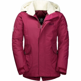 Jack Wolfskin Jack Wolfskin Girls Great Bear Jacket Dark Ruby