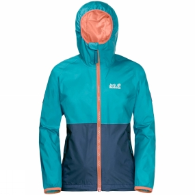 Jack Wolfskin Jack Wolfskin Girls Rainy Days Jacket 14+ Lake Blue