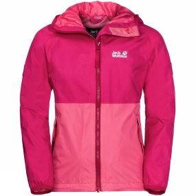 Jack Wolfskin Jack Wolfskin Girls Rainy Days Jacket 14+ Tropic Pink