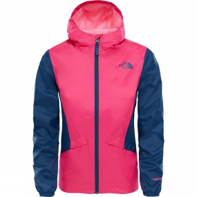 The North Face The North Face Girls Zipline Rain Jacket Age 14+ Petticoat Pink/Blue Wing Teal