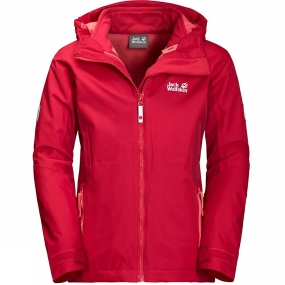 Jack Wolfskin Jack Wolfskin Girls Grivla 3-in-1 Jacket 14+ True Red