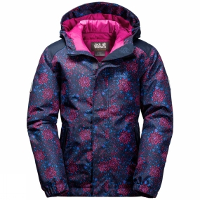 Jack Wolfskin Jack Wolfskin Girls Kajak Falls Printed Jacket 14+ Midnight Blue All Over