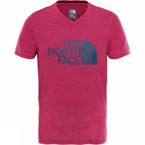 The North Face The North Face Girls Short Sleeve Reaxion Tee Petticoat Pink Light Heather