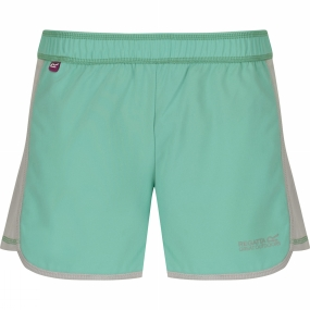 Regatta Girls Limber Shorts Age 14+ Pale Jade / Light Steel
