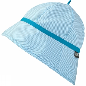 Jack Wolfskin Girls Supplex Sun Hat Turquoise Checks