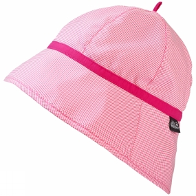 Jack Wolfskin Girls Supplex Sun Hat Hot Pink Checks