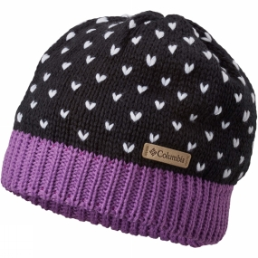 Columbia Girls Powder Princess Hat Black / Crown Jewel