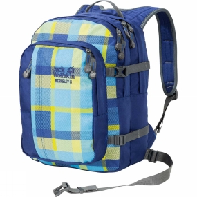 Jack Wolfskin Kids Berkeley Rucksack Blue Woven Check