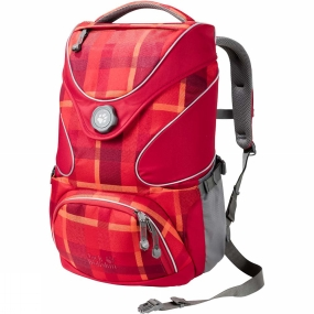Jack Wolfskin Kids Ramson Top 20 Pack Indian Red Woven Check