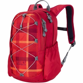 Jack Wolfskin Kids Grivla Pack Indian Red Woven Check