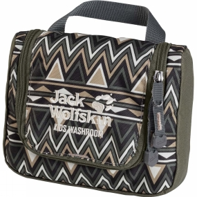 Jack Wolfskin Kids Washroom Washbag Green Navajo