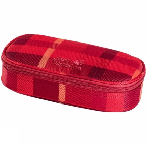 Jack Wolfskin Kids Triangle Box Pencil Case Indian Red Woven Check