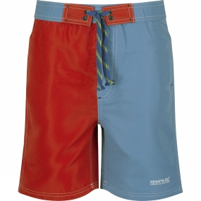 Regatta Boys Skooba II Swim Shorts Age 14+ Coastal Blue / Pepper