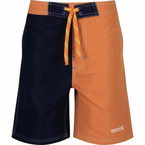 Regatta Boys Skooba II Swim Shorts Age 14+ Carrot / Navy