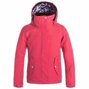 Roxy Roxy Girls Jetty Solid Jacket Paradise Pink