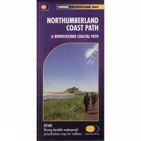Harvey Maps Northumberland Coast Path Map 1:40K