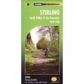 Harvey Maps Stirling Forth Valley & The Trossachs Cycle Map 1:80K No Colour